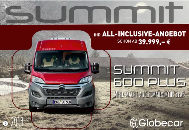 Globecar Summit 600 Plus Katalog 2019